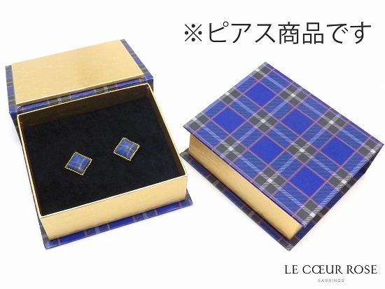 神戸タータン柄のピアス